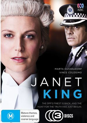 In this gripping legal drama, Senior Crown Prosecutor Janet King (Marta Dusseldorp) returns to work after a year's maternity leave determined to prove she still has her edge.