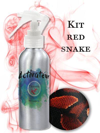 Kit d'impression hydrographique Red Snake Tsunami Kit