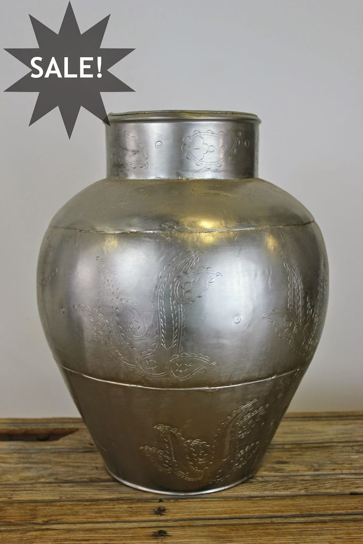 Hand Beaten Metal Urn with patterned detailing. Blog — Charcoal Interiors