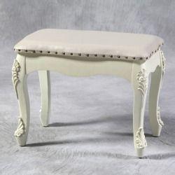 Vintage cream large dressing table stool.