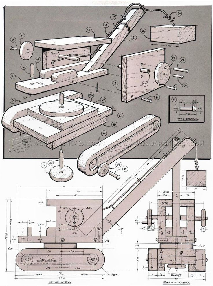 #3037 Wooden Toy Crane Plans - Wooden Toy Plans
