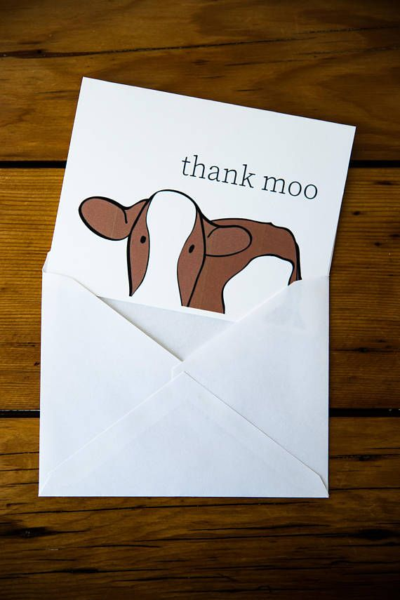Printable Greeting Card Download Thank You Card Cute Animal