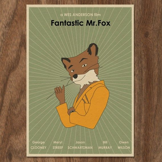 Fantastic Mr. Fox Movie Poster $29.90 with The Royal Tenenbaums and the Life Aquatic