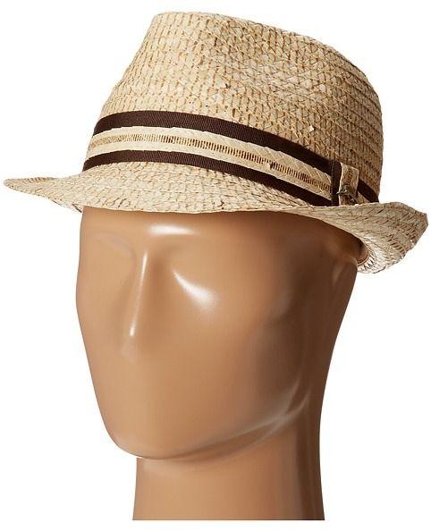 Tommy Bahama Buri Straw Fedora with Contrast Trim Traditional Hats