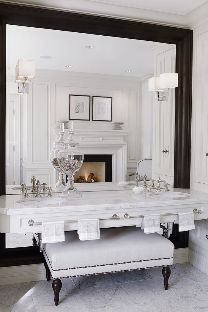 Classic master bathroom by Julie Charbonneau #MakeLivingAnArt