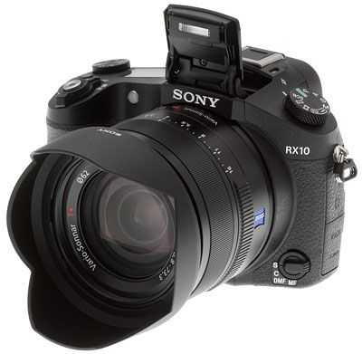 Sony RX10 Review -- Front left view