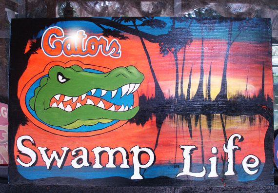 Florida Gators Swamp Life  Acrylic painting on by tuesdaydesigns, $45.00