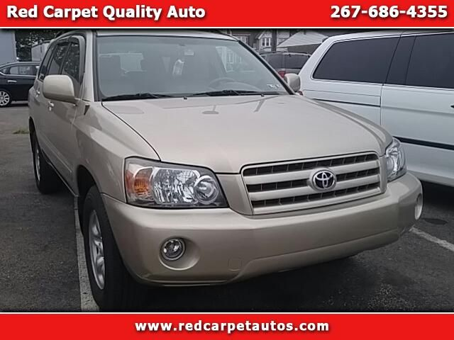 Used 2007 Toyota Highlander 4WD for Sale in Philadelphia PA 19135 Red Carpet Quality Auto