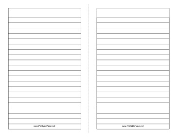 printable foldable 2page note papergreat for creating