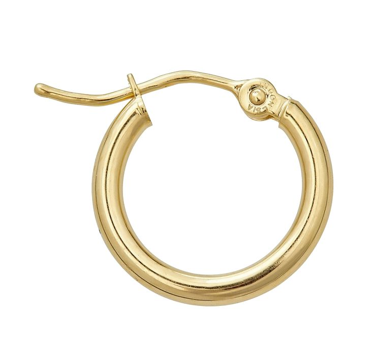 14K Yellow Gold Superlight Hoop Earrings (yellow-gold). 14K SOLID GOLD: This product is made of solid 14K gold and each piece is carefully trademarked with the metal purity for certification. Each piece is stamped 14K or 585 and guarantees the quality and craft. DESIGN: Classic Tube Hoop Earrings are a staple for any look. Grab yours or gift a pair today!. FINISH: Polished Finish, a clean and classy look. CLOSURE: This item is secured with a Snap Bar for added Security. SIZES & COLORS…