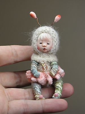 *OOAK, One of a Kind Miniature Tiny Elfin Girl *Taddy* By Shell