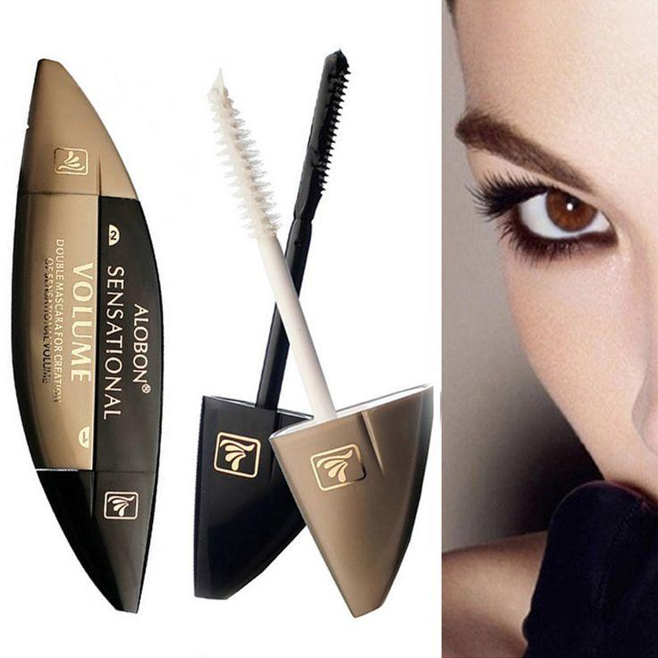 Tweekoppige super-geconcentreerd Mascara 2*10 ml 3D Mascara volume express valse wimpers make up waterdicht cosmetica ogen