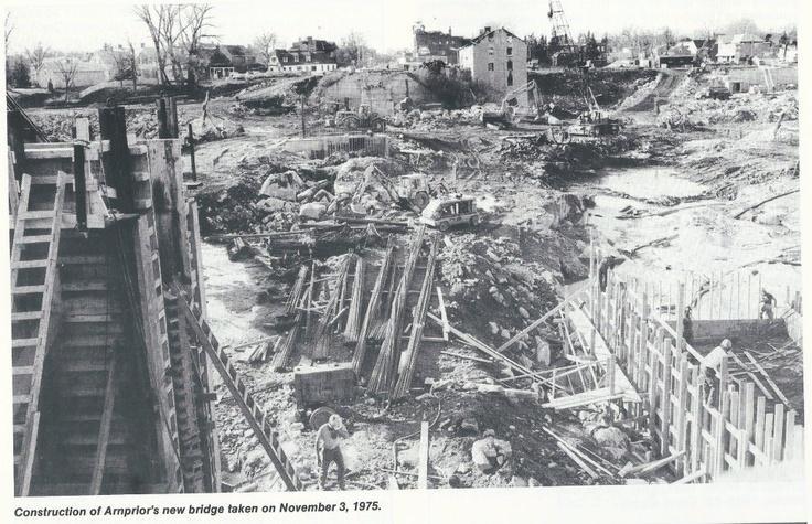 New bridge being built, 1975