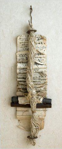 Ledger Bundle by Gail Rieke: Art Mixed, Books Art, Artists Books, Art Sul-Africana, Paper Art, Ledger Bundle, Paper Wall, Altered Art, Gail Rieke