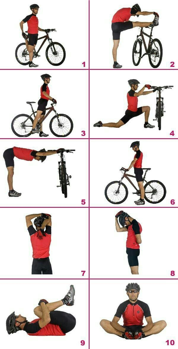 Stretches For Cyclists Cycling Workout Biking Workout Montain