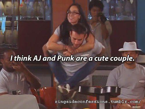 Cm Punk & Aj Lee | VK | Wrestling | Pinterest | Aj lee ...