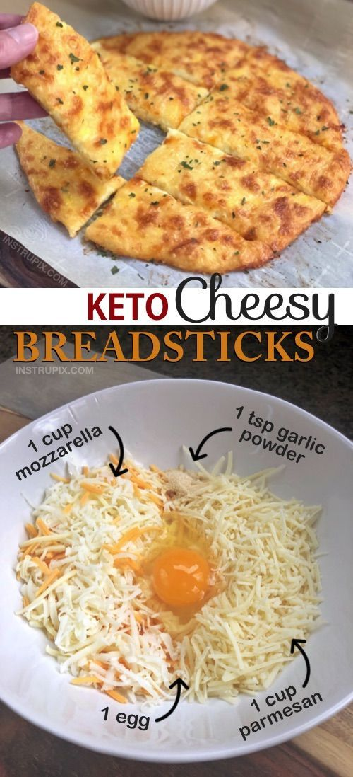 Easy 4 Ingredient KETO Käsige Knoblauchbrotstangen Rezept