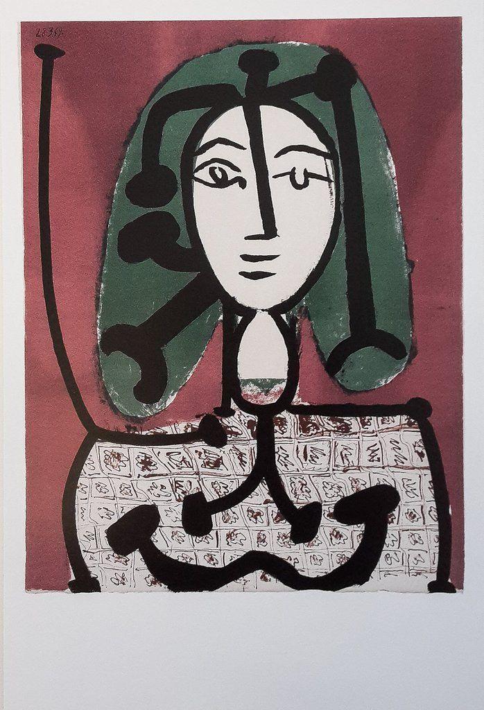 Πάμπλο Πικάσο, Γυναίκα με Πράσινα μαλλιά, 28.3.1949