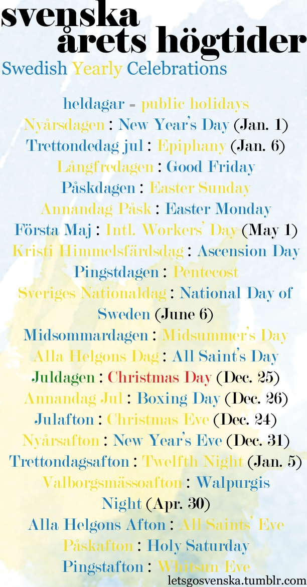 Swedish Holidays