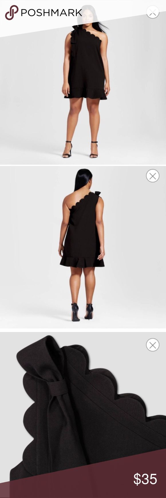 NWT Victoria Beckham Black One Shoulder Dress sz M NWT 🌹 Victoria Beckham for Target Circus Scallops Collection Black One Sleeve Dress. Front bow & scallop detailing. Fully lined. Side zipper. Adorable for summer! Size Medium. Please refer to the size chart pictured. Materials: Polyester, Rayon & Spandex. 🖤 Bundle & Save with my other Listings! 🖤 Victoria Beckham Dresses Midi