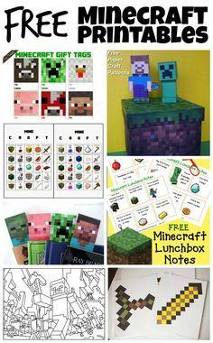 muy buen sitio con todo p imprimir Free Minecraft Printables