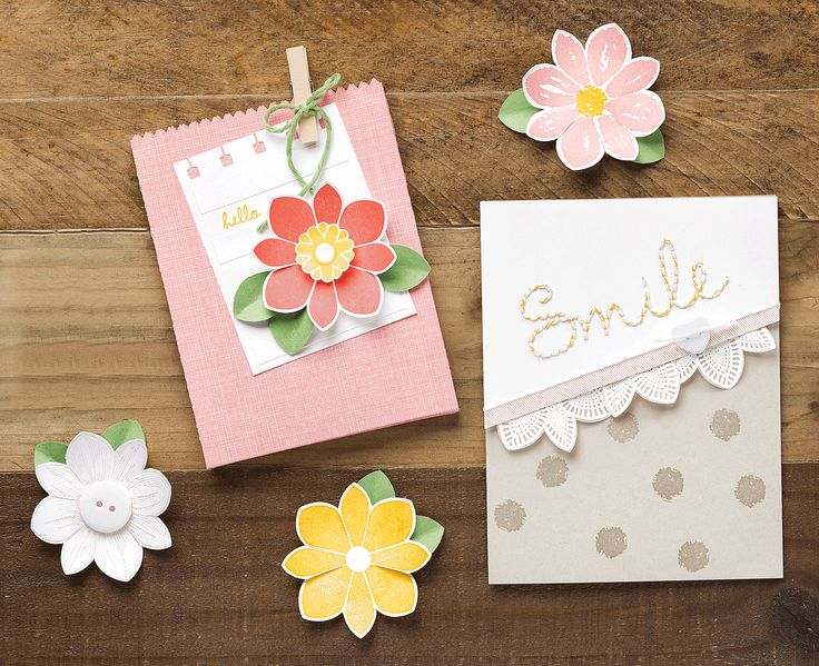 These cards are so much fun, and feature images from the new Petal Potpourri stamp set and Flower Medallion Punch.