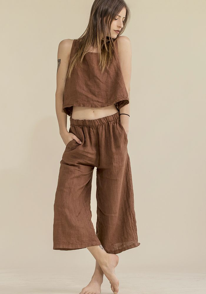 Cocoa Oil Top & Culottes  by myfashionfruit.com