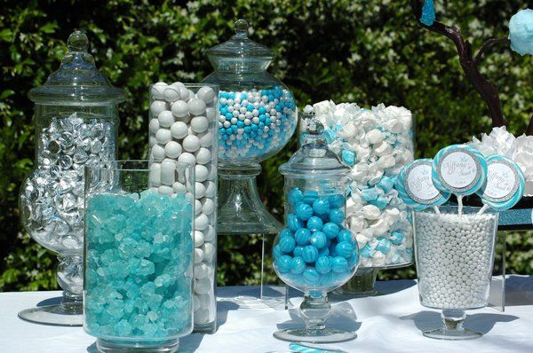 """""""Guess how many gum balls in the jar?"""" Perfect colors for a Cinderella themed baby shower!"""