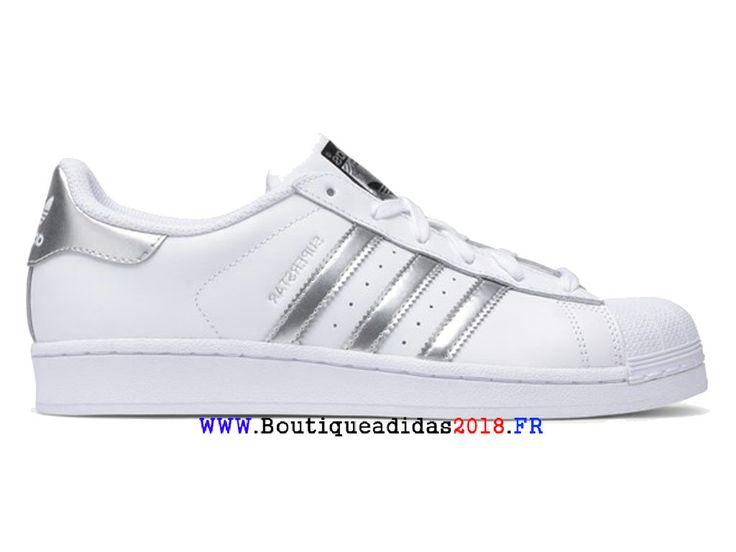 Adidas Originals Superstar Pack 80s - Chaussure Homme/Femme Blanc Argent Métallisé AQ3091