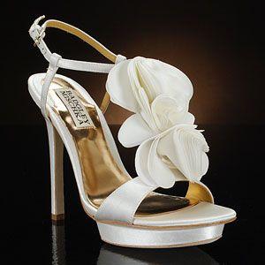 badgley mischka randee white  Wedding Shoes