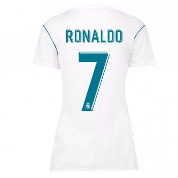 Real Madrid Cristiano Ronaldo 7 kläder Kvinnor 17-18 Hemmatröja Kortärmad  #Billiga #fotbollströjor