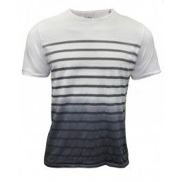 BOLONGARO TREVOR BRITAIN STRIPE TEE (WHITE/NAVY) - T-shirts - Menswear