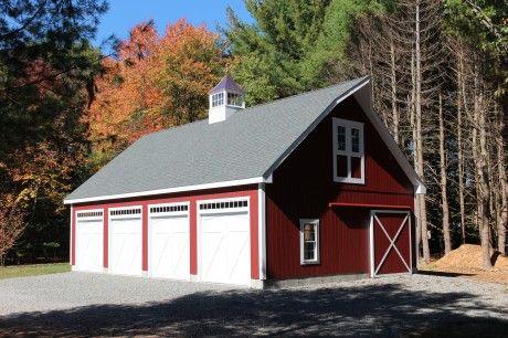55 best garages images on pinterest pole barn garage for 3 car garage pole barn