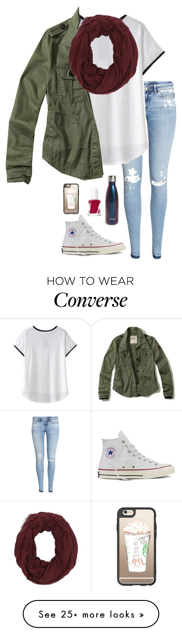 """""""Day 3- photo shoot"""" by eadurbala08 on Polyvore featuring H&M, Hollister Co., Converse, S'well, Essie, Casetify and Charlotte Russe"""
