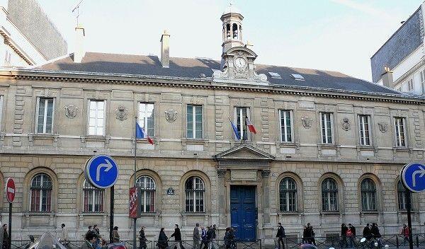 Paris 9ème arondissement - Lycée Condorcet - Façade sur la rue du Havre par l'architecte Joseph-Louis Duc (1802-1879)
