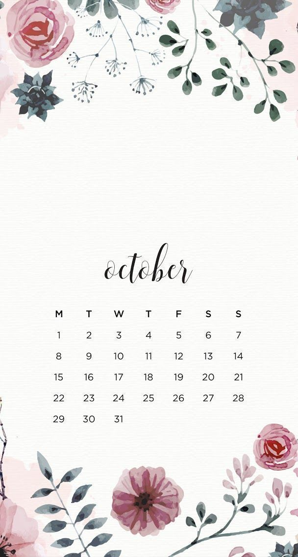 50 Free Printable October 2020 Calendars With Holidays Onedesblog In 2020 Calendar Wallpaper October Wallpaper Iphone Wallpaper
