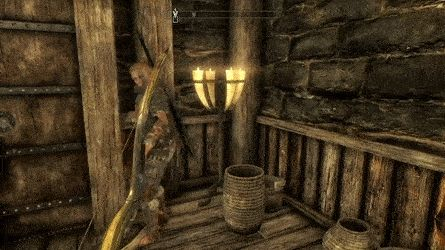 So I killed Aerin while he slept in his bed...fully expected Mjoll to become enraged and kick my ass. Was not expecting this. :| #games #Skyrim #elderscrolls #BE3 #gaming #videogames #Concours #NGC
