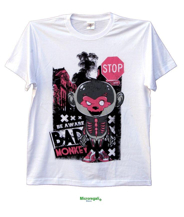 T-Shirt KeeVeet BAD MONEY Ragazzo Realtà Aumentata con App. Cotone Misura L. - T-Shirt KeeVeet Realta' Aumentata con App - Regali Curiosi