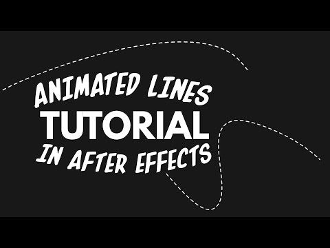 How to Animate a Line in After Effects - YouTube