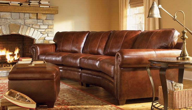 leather sofa and ottoman with oriental rug & hill country ...