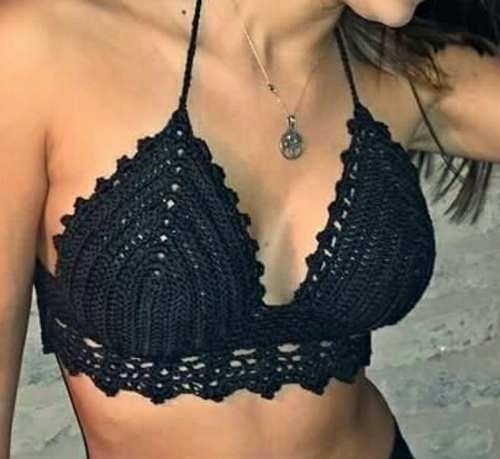 Top Crop Crochet Tejido Artesanal !!!! - $ 380,00