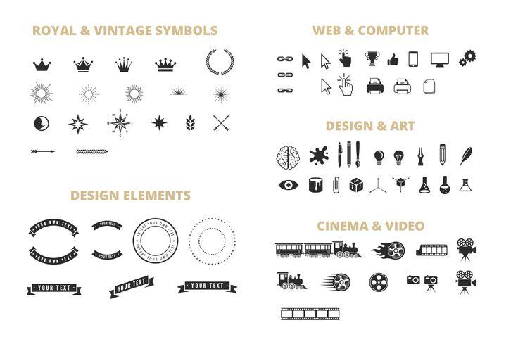 Vintage Label Badge Logo Constructor by Sentavio on Creative Market
