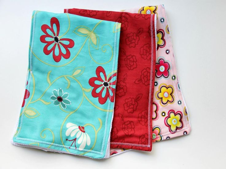 DIY Network shows you how to sew an easy burp cloth for baby using scrap fabric and terry cloth.