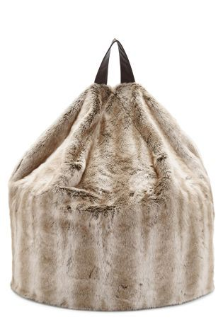 Buy Large Faux Fur Bean Bag from the Next UK online shop
