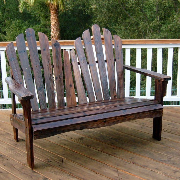 Shine Company 1 Westport Burnt Brown Wood Traditional Adirondack Chair