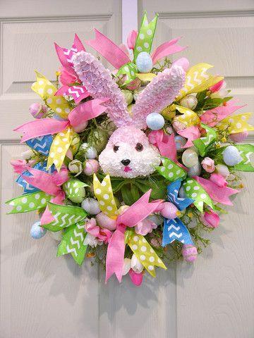 Chevron Bunny Egg Wreath – MilandDil Designs
