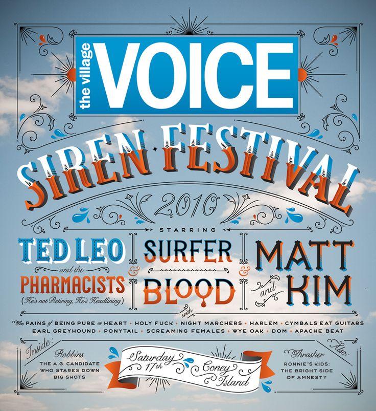 Jessica Hische - Village Voice Siren Fest