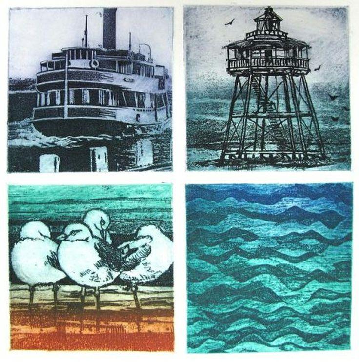 Cynthia Taylor NZ Printmaker and painter. Marine Icons