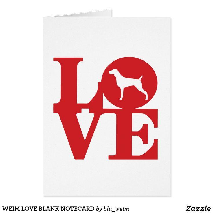 WEIM LOVE BLANK NOTECARD