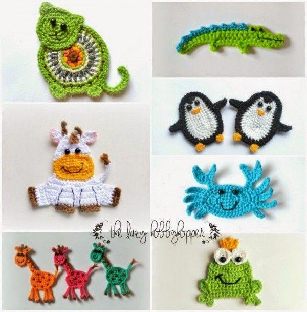#Crochet animal applique patterns for sale form The Lazy Hobbyhopper